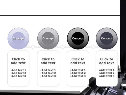 Black Polished Stone Cubes PowerPoint Template Slide 5