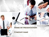 Business: Day At The Office PowerPoint Template #09851