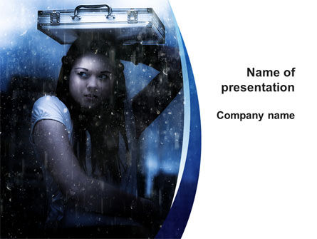 Consulting: Girl Under The Rain PowerPoint Template #09852