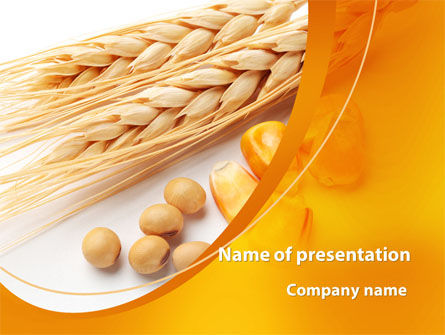 Spikes Of Cereal PowerPoint Template, 09854, Agriculture — PoweredTemplate.com
