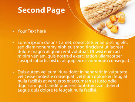 Spikes Of Cereal PowerPoint Template, Slide 2, 09854, Agriculture — PoweredTemplate.com