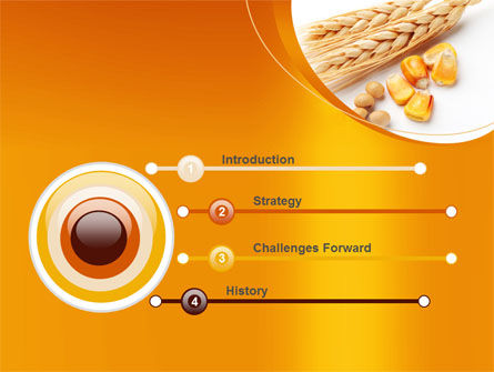 Spikes Of Cereal PowerPoint Template, Slide 3, 09854, Agriculture — PoweredTemplate.com