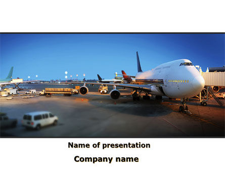 Cars and Transportation: Airport Service PowerPoint Template #09856