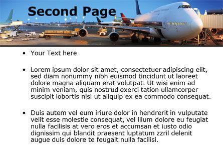 Airport Service PowerPoint Template, Slide 2, 09856, Cars and Transportation — PoweredTemplate.com