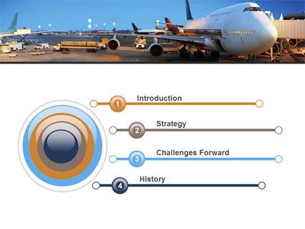 Airport Service PowerPoint Template, Slide 3, 09856, Cars and Transportation — PoweredTemplate.com