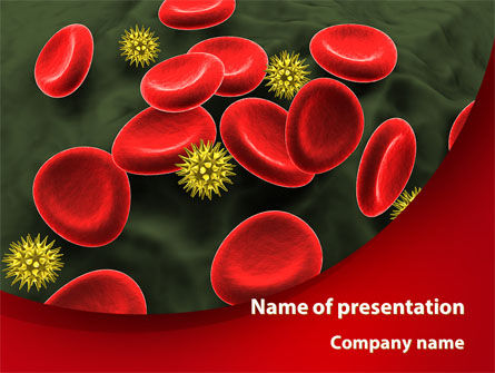 Virus In Blood Stream PowerPoint Template, 09857, Medical — PoweredTemplate.com