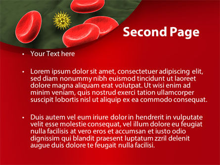 Virus In Blood Stream PowerPoint Template Slide 2
