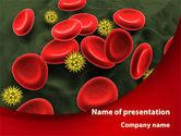 Medical: Modelo do PowerPoint - vírus sangue fluxo #09857