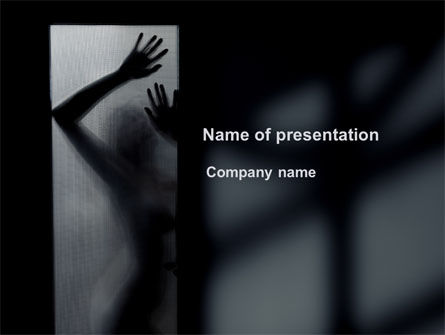 People: Silhouette Of Naked Girl PowerPoint Template #09858