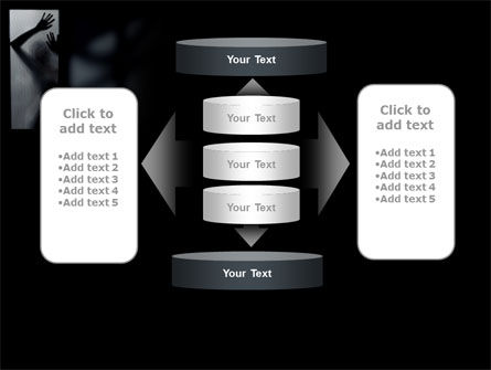 Silhouette Of Naked Girl PowerPoint Template Slide 13