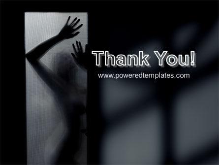 Silhouette Of Naked Girl PowerPoint Template Slide 20