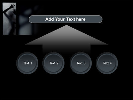 Silhouette Of Naked Girl PowerPoint Template Slide 8