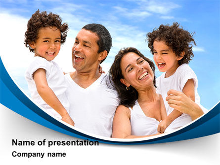 People: Lucky Latino Family PowerPoint Template #09861