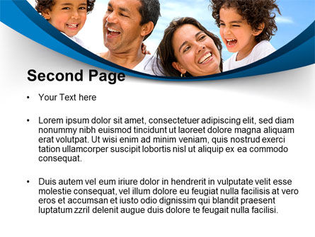 Lucky Latino Family PowerPoint Template, Slide 2, 09861, People — PoweredTemplate.com