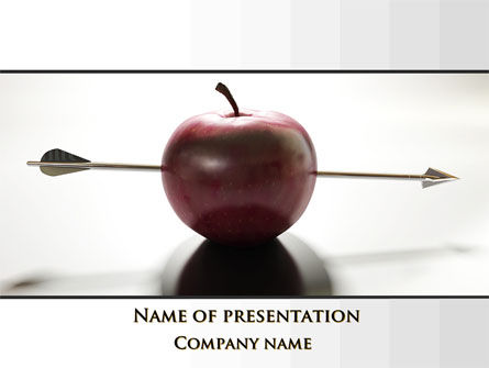 Consulting: Apple Of William Tell PowerPoint Template #09862