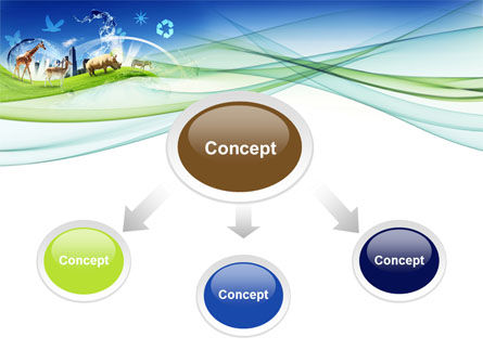 Ecological Balance Between Various Types Of Life PowerPoint Template Slide 4
