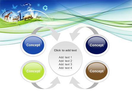 Ecological Balance Between Various Types Of Life PowerPoint Template Slide 6