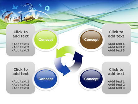 Ecological Balance Between Various Types Of Life PowerPoint Template Slide 9