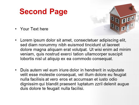 Model Of Townhouse PowerPoint Template Slide 2