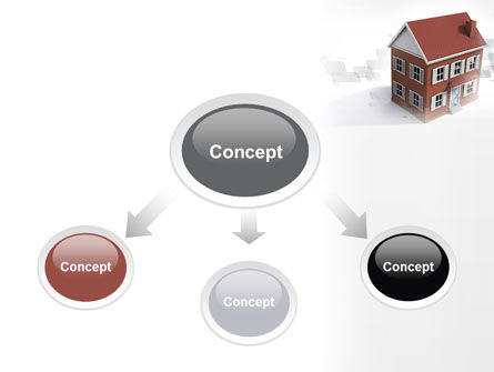 Model Of Townhouse PowerPoint Template Slide 4