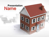 Construction: Model Of Townhouse PowerPoint Template #09866