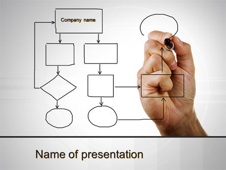 Business: Development Of A Block Schemes PowerPoint Template #09869