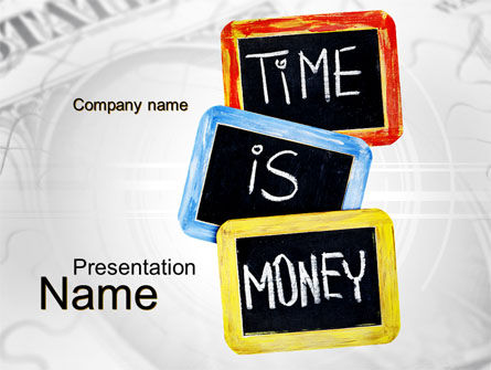 Time Is Money Training PowerPoint Template
