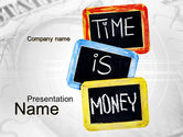 Financial/Accounting: Time Is Money Training PowerPoint Template #09872