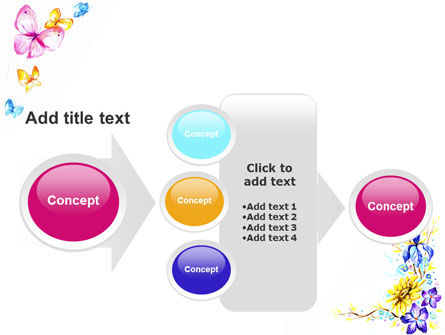 Butterfly Frame PowerPoint Template Slide 17