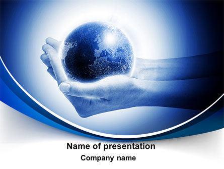 Globe In Hands PowerPoint Template, 09876, Global — PoweredTemplate.com