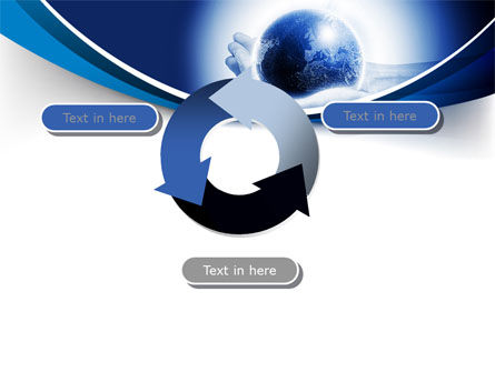 Globe In Hands PowerPoint Template Slide 9