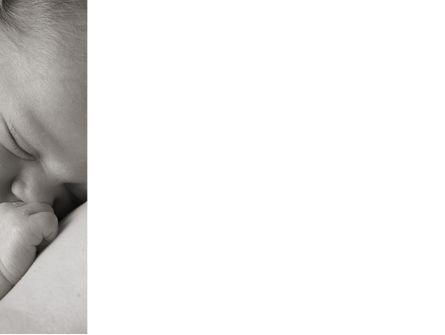 Sleeping Baby PowerPoint Template, Slide 3, 09877, People — PoweredTemplate.com