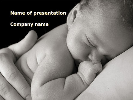 People: Sleeping Baby PowerPoint Template #09877