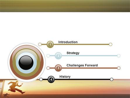 Run, Businessman, Run PowerPoint Template Slide 3