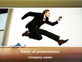 Business: Run, Businessman, Run PowerPoint Template #09878
