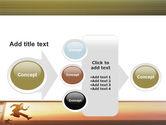 Run Businessman Run PowerPoint Template#17