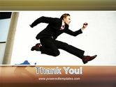 Run Businessman Run PowerPoint Template#20