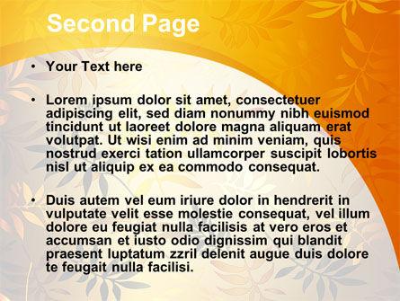 Golden Orange Vegetative PowerPoint Template, Slide 2, 09879, Nature & Environment — PoweredTemplate.com