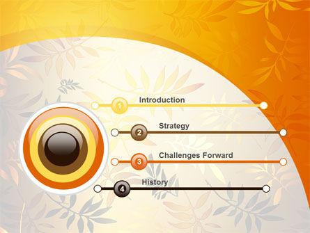 Golden Orange Vegetative PowerPoint Template, Slide 3, 09879, Nature & Environment — PoweredTemplate.com
