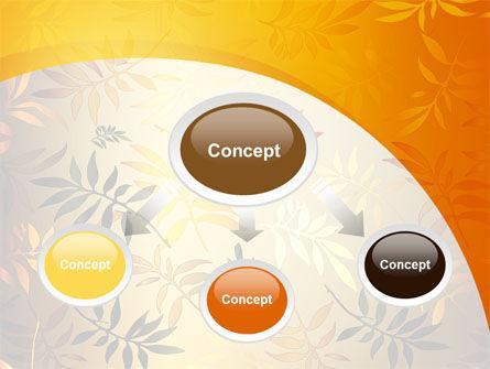 Golden Orange Vegetative PowerPoint Template, Slide 4, 09879, Nature & Environment — PoweredTemplate.com
