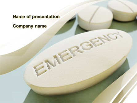 Emergency Tablet PowerPoint Template, 09883, Medical — PoweredTemplate.com