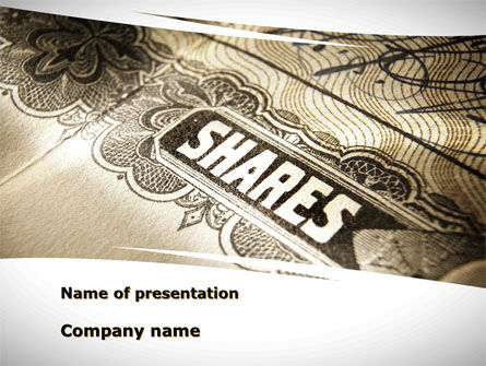 Shares PowerPoint Template, 09884, Financial/Accounting — PoweredTemplate.com
