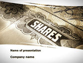 Financial/Accounting: Shares PowerPoint Template #09884