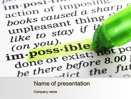 To Make It Possible PowerPoint Template, 09885, Consulting — PoweredTemplate.com