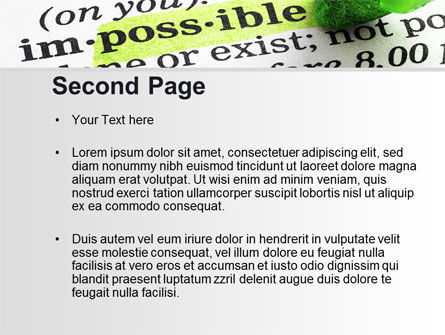 To Make It Possible PowerPoint Template, Slide 2, 09885, Consulting — PoweredTemplate.com