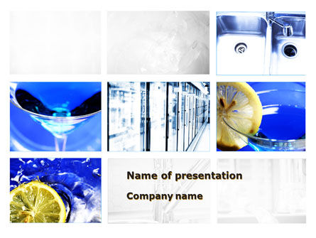 Blue Cocktails Collage PowerPoint Template