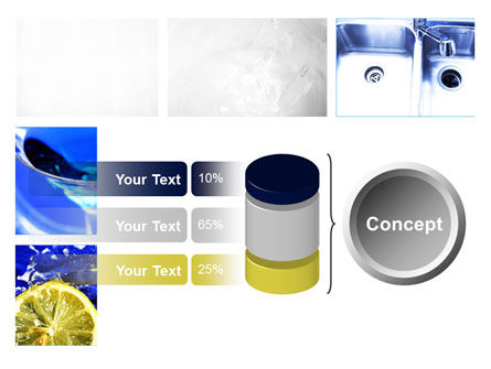 Blue Cocktails Collage PowerPoint Template Slide 11