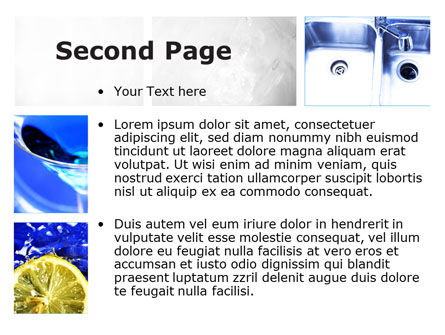 Blue Cocktails Collage PowerPoint Template Slide 2