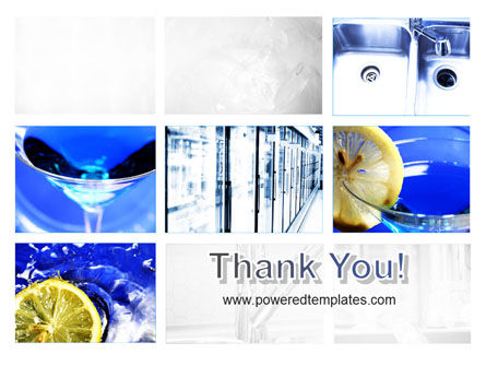 Blue Cocktails Collage PowerPoint Template Slide 20