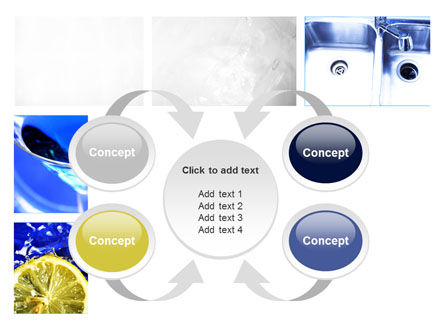 Blue Cocktails Collage PowerPoint Template Slide 6